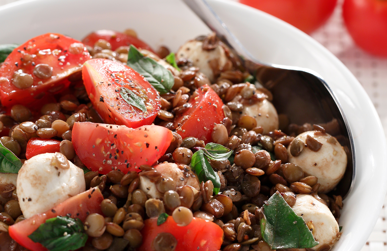 Balsamic Lentil Caprese Salad – Lentils.org