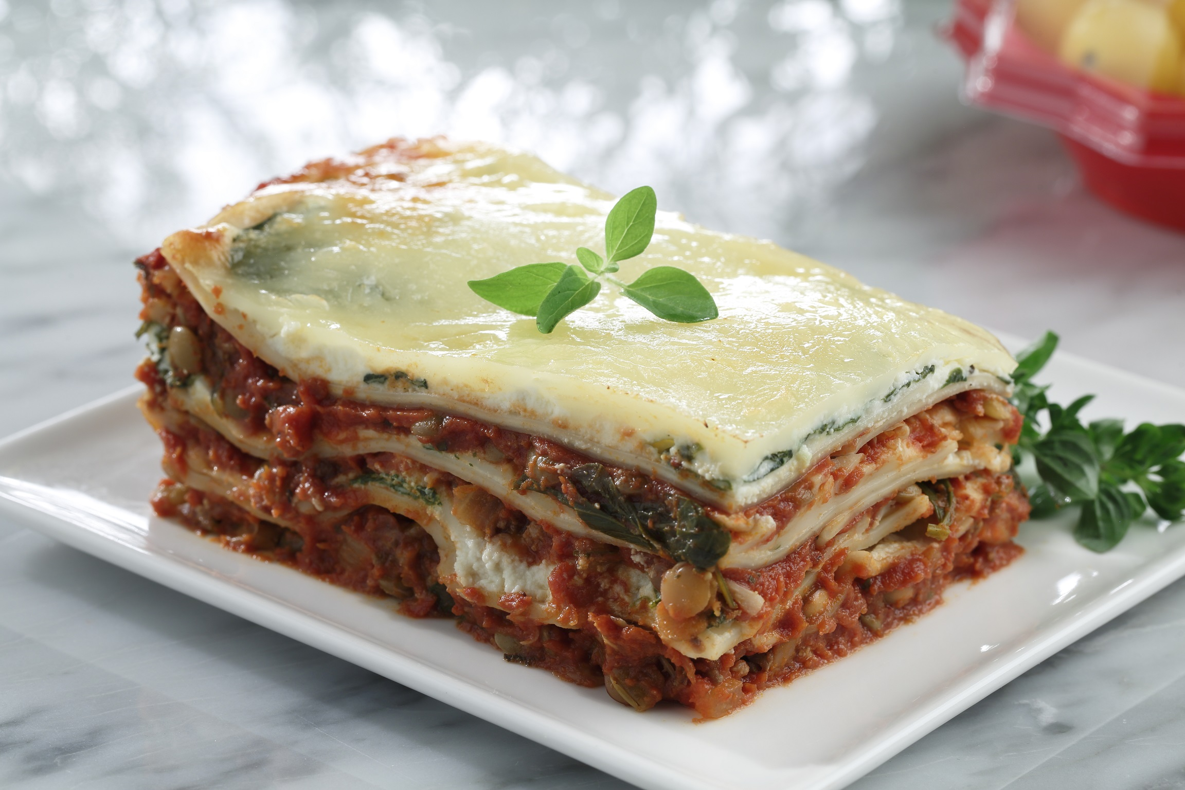 Beef And Lentil Lasagna With Ricotta And Spinach Lentilsorg