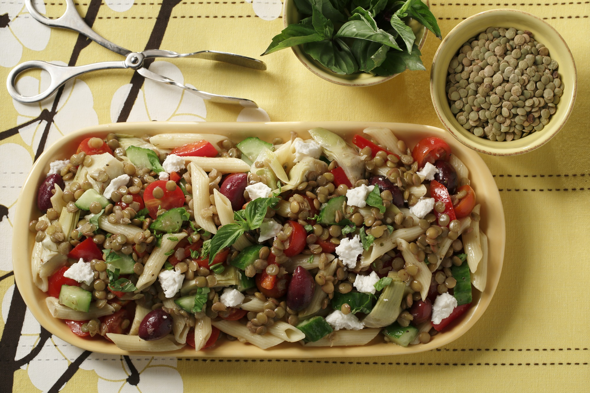Mediterranean Lentil Pasta Salad – Lentils.org