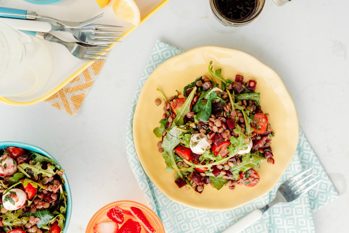 Lentil, Tomato & Beet Salad with Bocconcini – Lentils.org