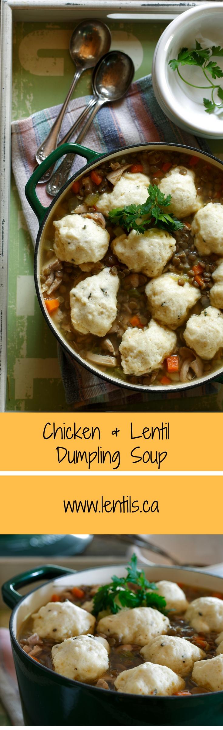 Chicken & Lentil Dumpling Soup