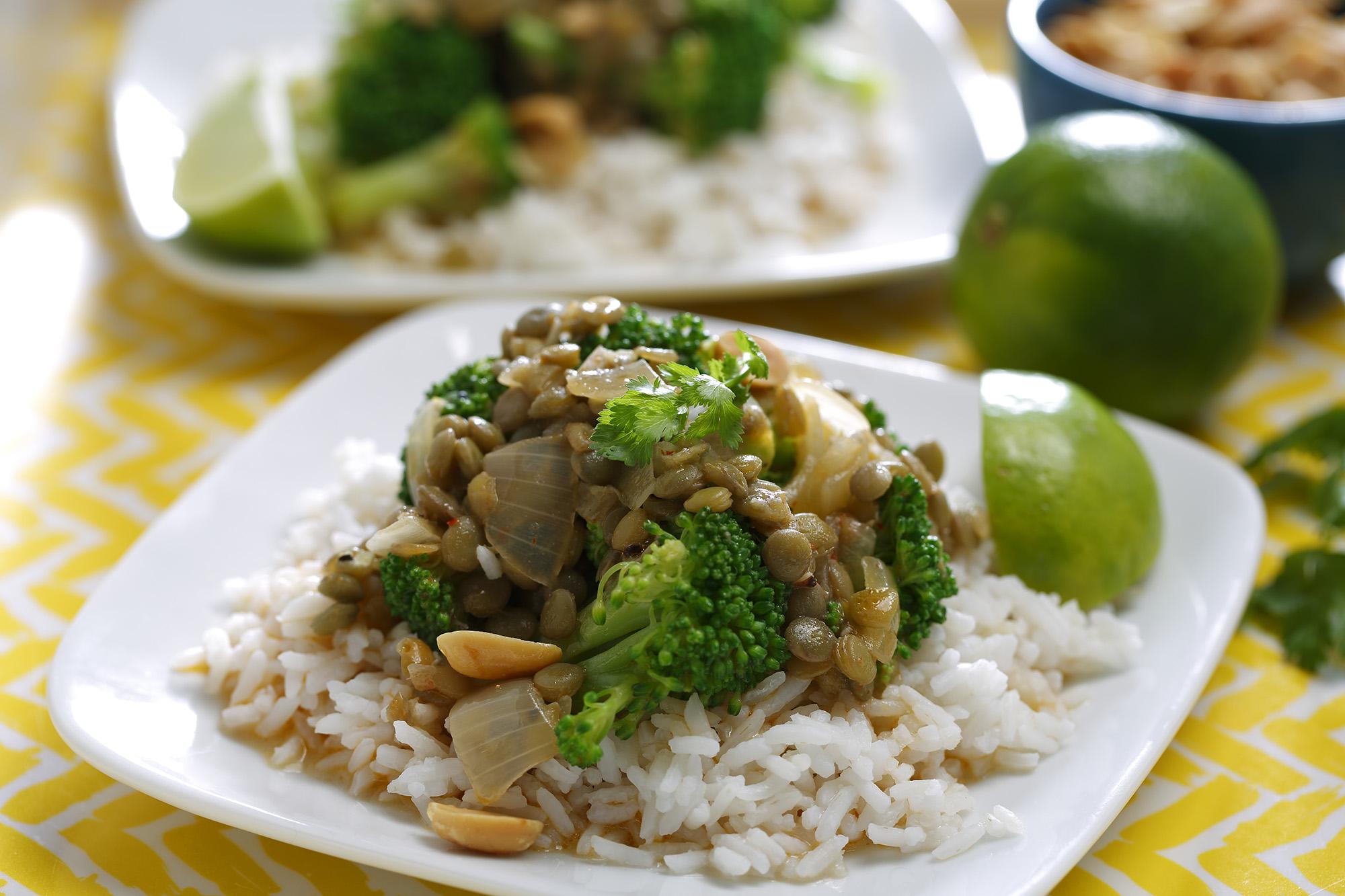 Lentil Amp Broccoli Curry With Coconut Milk Lentils Org