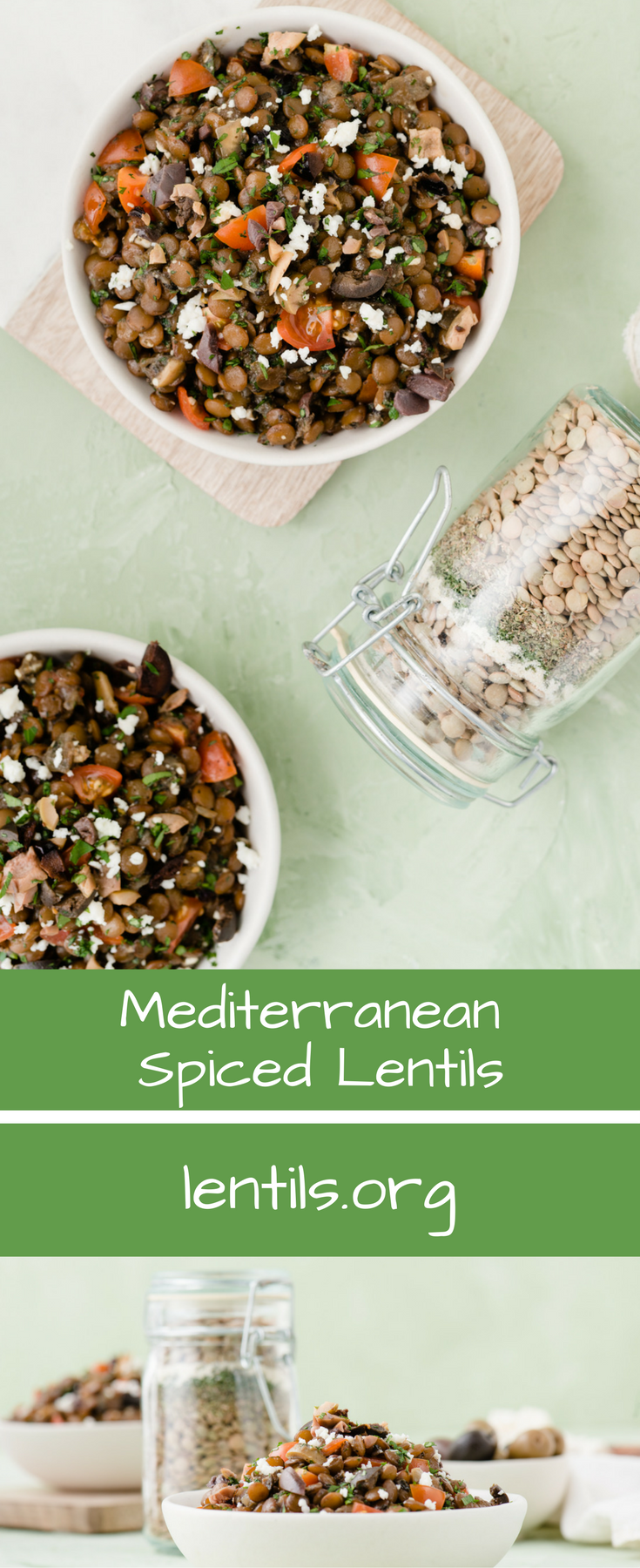 Mediterranean Spiced Lentils Lentils Org