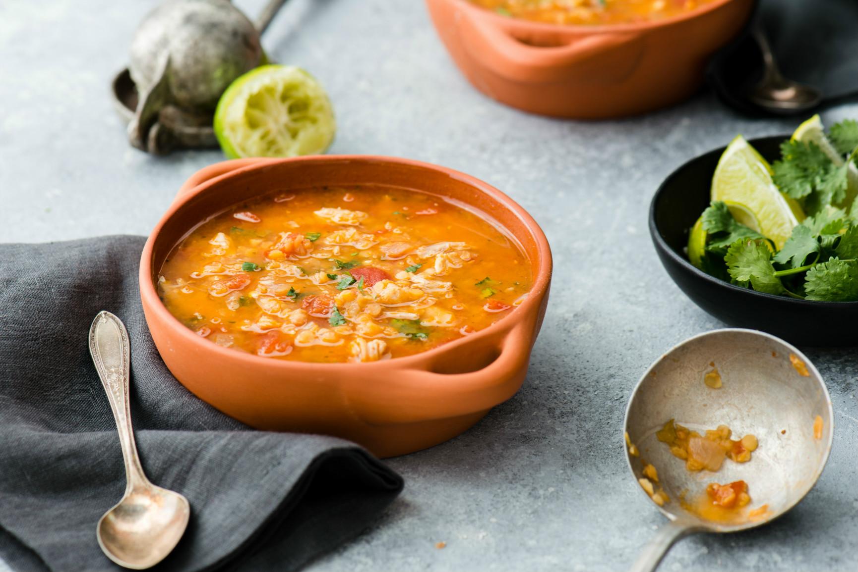 Instant Pot Mexican Lentil & Chicken Soup Recipe