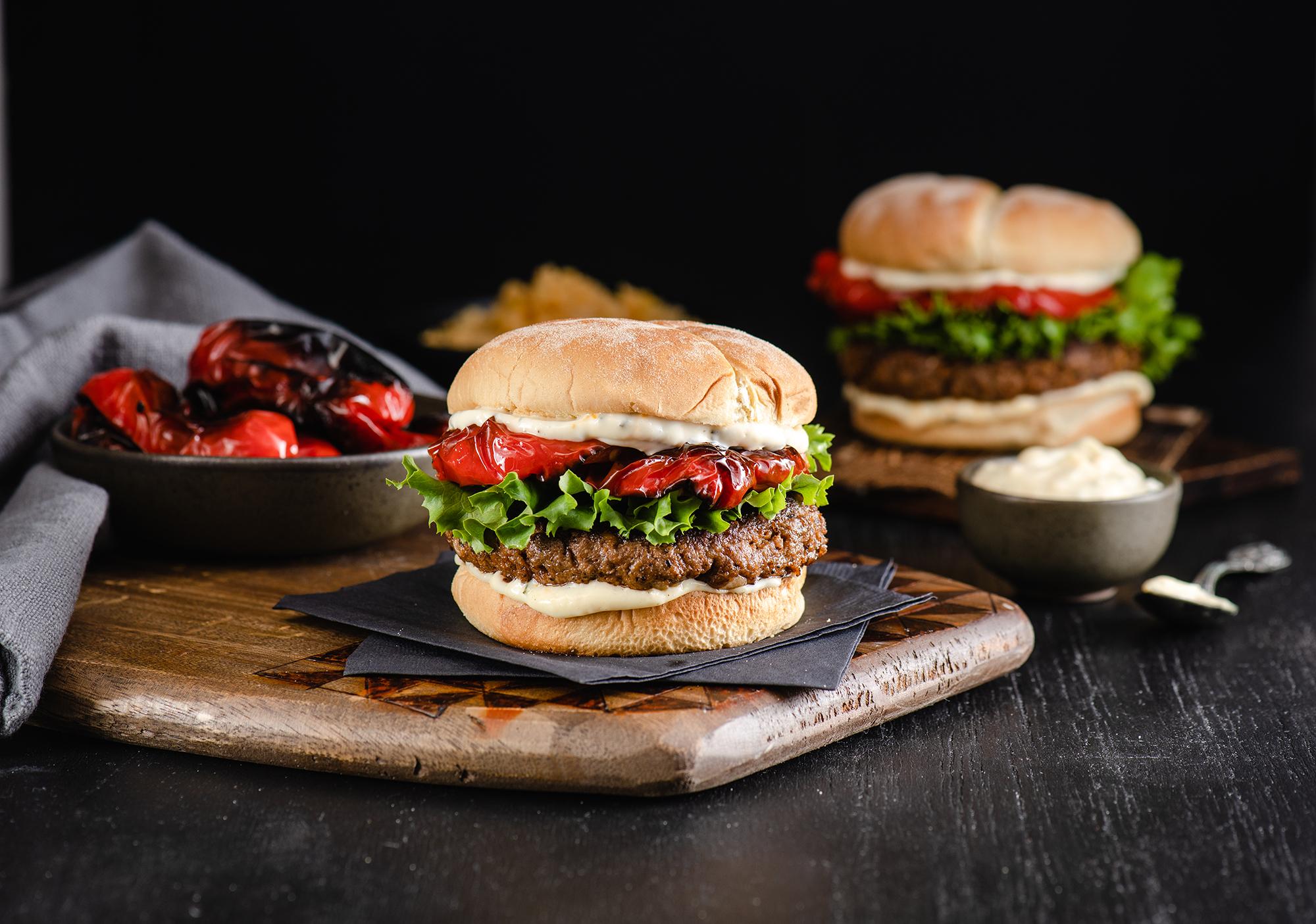 Slammin Spanish Burger Lentils Org